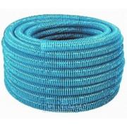 Manguera autoflotante fabricada en polietileno de color azul