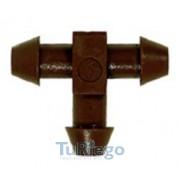Conector en TE de 5 x 3 mm. bocas cónicas