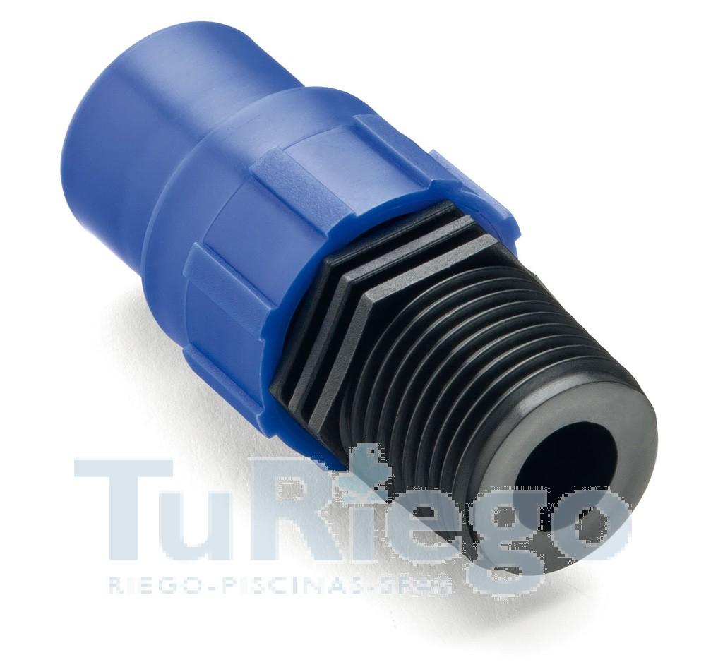 Accesorio fitting superroscado para tubo y cinta riego por - Tubo riego por goteo ...
