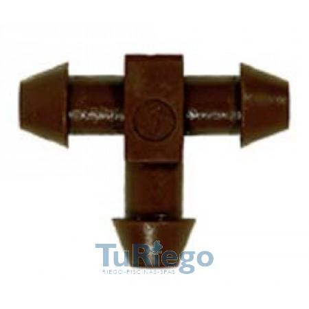 CConector en T 5 x 3 mm. C-C-C bocas cónicas