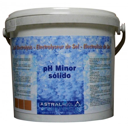 pH minor sólido para electrólisis de sal