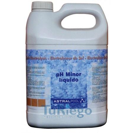 pH minor líquido para electrólisis de sal