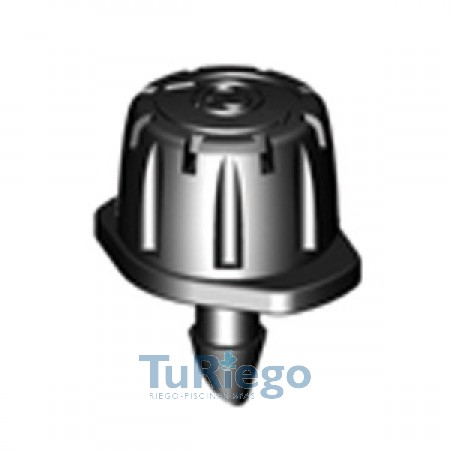 Gotero ajustable 8 chorros de o a 40 L/H. 360º,de insertar 4,5 mm