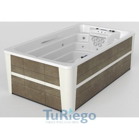 Spa Privado SWIMSPA COMPACT, Mueble Urban Grey color blanco