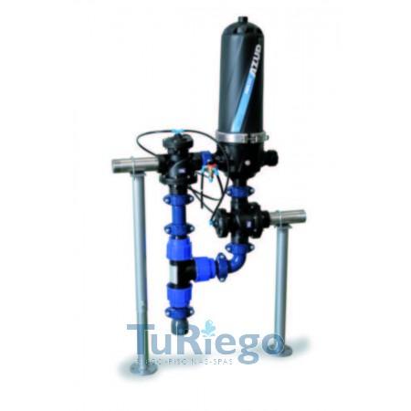 Batería filtros de anillas de lavado automático AZUD HELIX AUTOMATIC 201
