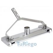 Limpiafondos manual Aluminio y latón cromado
