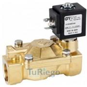 Electroválvula presión apertura 0,2 atm. de 2 vías N.C. de latón