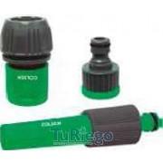 Set lanza rociadora plástico + conector rápido 15 / 19 mm + conector grifo