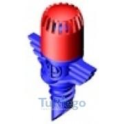 Microdifusor AQUILA 360º x 18 chorros Base azul cabeza roja