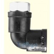 Codos de 90º de transición PE-AD electrosoldable - Acero (rosca hembra) PN-16