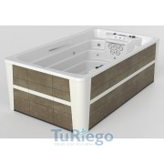 Spa Privado SWIMSPA COMPACT, Mueble Urban Grey color blanco