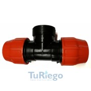 Te mixta tipo fitting, tubería plana flexible (LAY-FLAT), de 52 a 156 mm.
