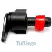 Toma tubería plana flexible (LAY-FLAT) a cinta con anilla, de 16 y 22 mm.