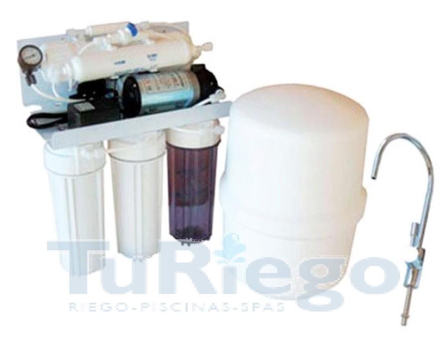 Osmosis inversa dom stica con bomba idrapure 5p for Osmosis inversa domestica